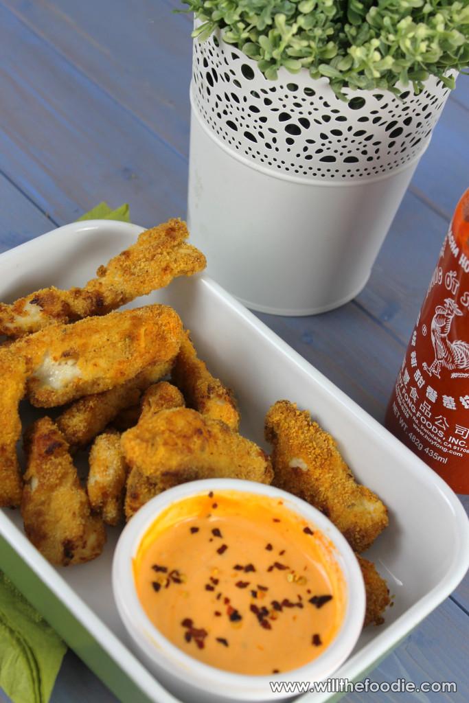 Chicken Goujons With Sriracha Mayo Will The Foodie